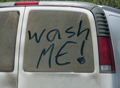 Wash That Car Boogers On The Wall