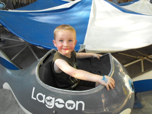 One of my boys on a trip to Lagoon five years ago.