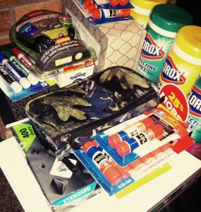 school shopping chaos