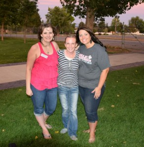 Me and a couple of my favorite Utah Share friends Shenara Jaynes (left) and Rachael Price (right) at the Utah Share Summer Social.